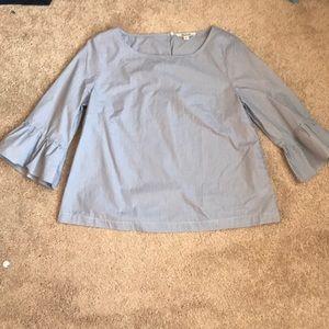 Blue and white stripe shirt